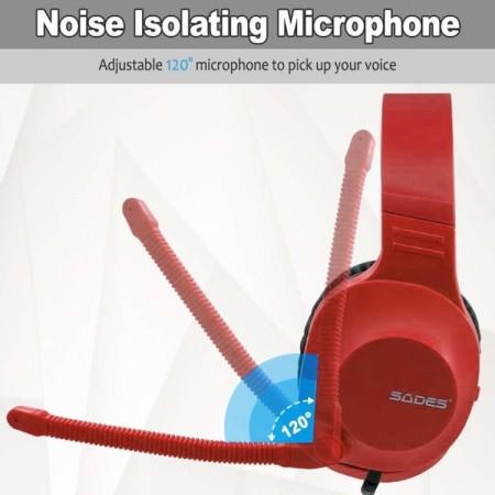 Sades Spirits SA-721 Gaming Headset - Red