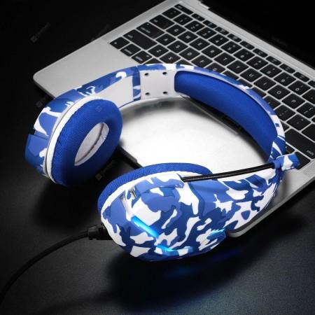 ASKMEER J10 Gaming Headset - Blue Camouflage