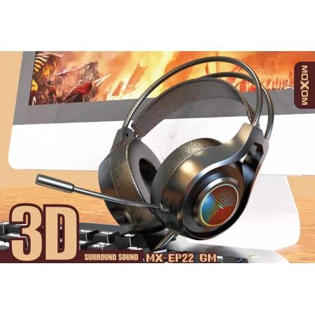 MOXOM MX-EP22 3D Surround Gaming Headset Black