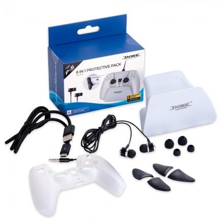Dobe 8 in 1 Protective Kit for PS5